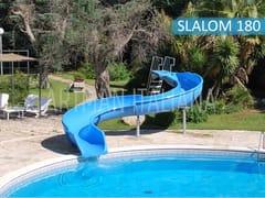 Scivolo a corrente forte in vetroresinaACQUASCIVOLO SLALOM180 - ARTMAN ITALIANA