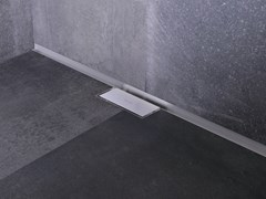 Scarico per doccia in acciaio inoxWATERSTOP WALL ZERO - EASY SANITARY SOLUTIONS