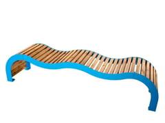 Panchina in acciaio e legno senza schienaleKOS   Panchina - PUNTO DESIGN