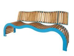 Panchina in acciaio e legno con schienaleKOS   Panchina con schienale - PUNTO DESIGN