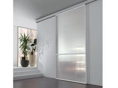 Porta scorrevole in vetro tessuto WAVE | Porta scorrevole - Aluminium Chic
