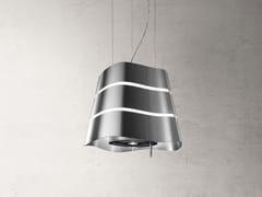 Cappa a soffitto in acciaio inox con illuminazione integrataWAVE - ELICA