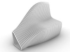 Concreative, WAVY Panchina in calcestruzzo con schienale