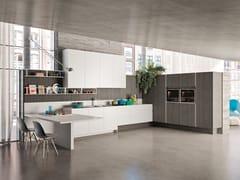 Cucina componibile lineare in legno WAY | Cucina lineare - SISTEMA