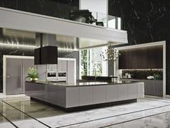 Cucina laccata in legno con isola senza maniglie WAY | Cucina con isola - SISTEMA
