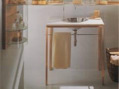 Lavabo rotondo in acciaio inox con porta asciugamaniWEB - RAPSEL INTERNATIONAL