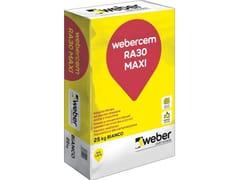 Saint-Gobain - Weber, WEBERCEM RA30 MAXI Rasante cementizio fibrato ad elevata adesione