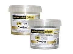 Glitter colorati metallizzati per l'additivazioneWEBERCOLOR GLITTER - SAINT-GOBAIN WEBER
