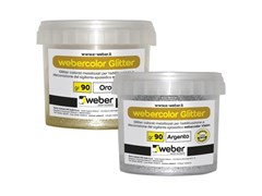 Glitter colorati metallizzatiWEBERCOLOR GLITTER - SAINT-GOBAIN WEBER