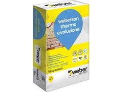 Saint-Gobain - Weber, WEBERSAN THERMO EVOLUZIONE Intonaco macroporoso per risanamento e isolamento