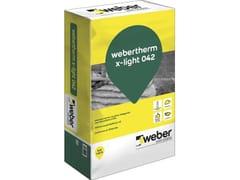 Saint-Gobain - Weber, WEBERTHERM X-LIGHT 042 Intonaco termo-acustico alleggerito con microsfere di EPS