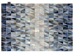 Tappeto fatto a mano rettangolare in Lyocell® a motivi geometriciWEDGE - ASPLUND