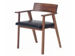 Sedia in legno massello con braccioliWEDGE - BASSAMFELLOWS