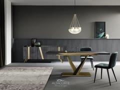 Tavolo da pranzo rettangolare in acciaio e legnoWEST   Tavolo - ALTA CORTE