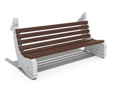 Panchina in calcestruzzo e legno con schienaleWHALE - ENCHO ENCHEV - ETE