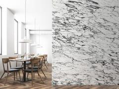Carta da parati lavabile panoramica effetto marmo WHITE & BLACK ARABESCATO MARBLE | Carta da parati panoramica - Marbles