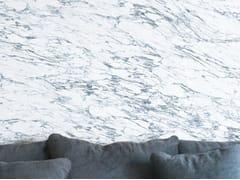 Carta da parati lavabile panoramica effetto marmo WHITE & BLUE ARABESCATO MARBLE | Carta da parati panoramica - Marbles