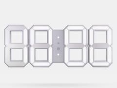 Orologio in ABSWHITE & WHITE LED CLOCK - KIBARDIN DESIGN