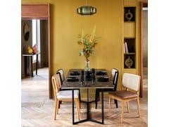 Sedia in vimini in stile vintage con cuscino integratoVIMINI | Sedia in vimini - RED EDITION