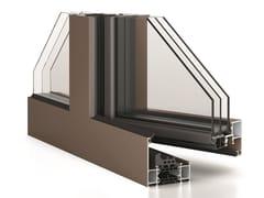 WICONA, WICLINE 75 MAX Finestra a scomparsa a taglio termico in alluminio con triplo vetro