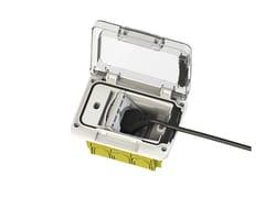 Presa per scatola impermeabile a 3 moduliWIDE 4B.W.03 - 4 BOX