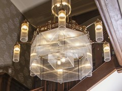 Lampadario fatta a mano in ottone WIENER II | Lampadario - Wiener