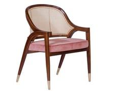Sedia in frassino e velluto con schienale in cannaWILLOW - SALMA FURNITURE