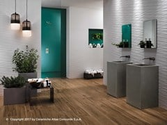 Rivestimento tridimensionale in ceramica a pasta bianca WIND - 3D Wall Design