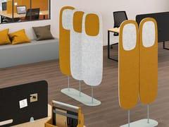 Divisorio ufficio fonoassorbente freestanding in PET riciclatoWINDO - MANADE