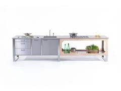 Cucina per interno ed esterno in acciaio e legnoWINDOW COMBINATO C1+C3 - LGTEK KITCHEN&FURNITURE