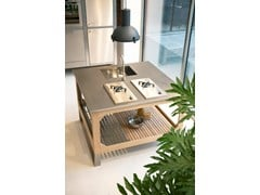 Cucina da esterno in acciaio e legnoWINDOW C3 ISOLA - LGTEK KITCHEN&FURNITURE
