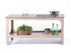 Cucina da esterno in acciaio e legnoWINDOW C3 - LGTEK KITCHEN&FURNITURE