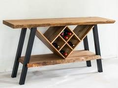 Consolle rettangolare in rovere con ripianiWINE TABLE - STROMDAL DESIGN