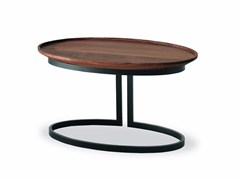 Tavolino ovale in legno e ferro WING | Tavolino ovale - Wing