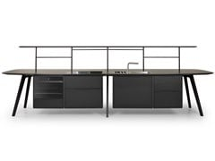 Modulo cucina freestanding in legno WING KITCHEN - TRUE DESIGN