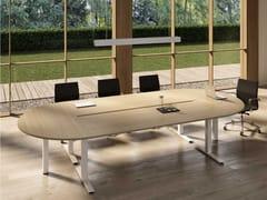 Tavolo da riunione in nobilitato con sistema passacaviWINGLET   Tavolo da riunione - BRALCO