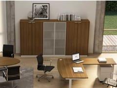 Mobile ufficio in vetro temperato con ante a battente con serraturaWINGLET | Mobile ufficio con ante a battente - BRALCO