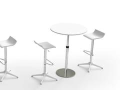 Tavolino ad altezza regolabile rotondo in nobilitatoWINGLET | Tavolino rotondo - BRALCO