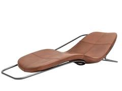 Chaise longue imbottita in pelleWIREFLOW - DRIADE