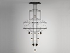 Lampada a sospensione a LED con dimmerWIREFLOW CHANDELIER 0374 - VIBIA