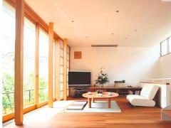 Porta-finestra scorrevole in alluminio e legnoWOOD SLIDE PA180 - DOMAL