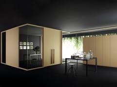 Parete mobile in legno e vetro per ufficioWOOD_WALL - CITTERIO