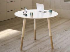 Tavolo da riunione rotondo in faggio WOODS | Tavolo - Woods