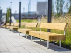 Panchina modulare in legno con schienaleWOODY | Panchina con schienale - MMCITÉ1
