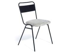 Sedia imbottita impilabile in tessuto con schienale aperto WORKING GIRL | Sedia con schienale aperto - WORKING GIRL