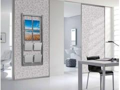 Espositore a parete monofacciale in alluminio per opuscoliEspositore a parete in alluminio - STUDIO T