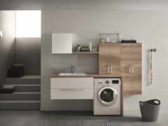 Wall-mounted laundry room cabinet