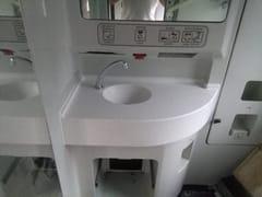 Lavabo in Corian® su misuraLavabo per contract - CAVALLARO MARCO