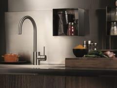 Miscelatore da cucina da piano in acciaio inox con bocca girevole X-MIX | Miscelatore da cucina - X-MIX