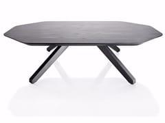 Tavolino basso in legno impiallacciatoX TABLE | Tavolino in legno - ALMA DESIGN